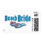 Flip Flops Beach Bride Postage Stamp