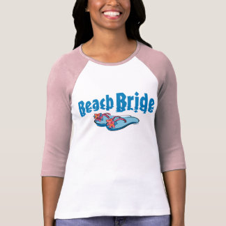 Flip Flops Beach Bride Tee Shirt
