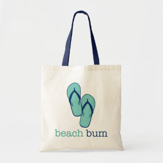 Flip Flops Beach Bum Canvas Tote Bag