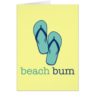 Flip Flops Beach Bum Card