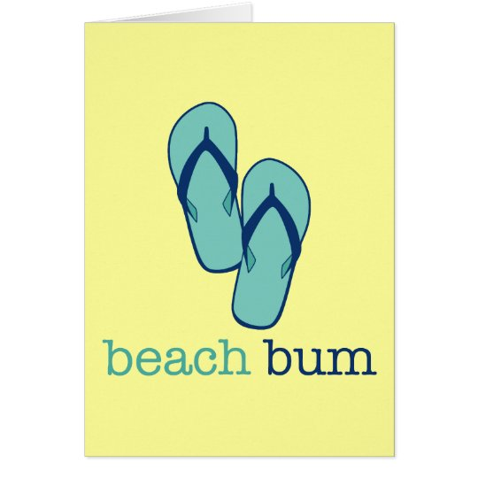 Flip Flops Beach Bum Card