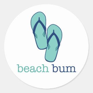 Flip Flops Beach Bum Classic Round Sticker