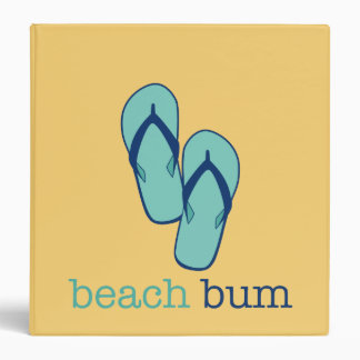 Flip Flops Beach Bum Custom Binder