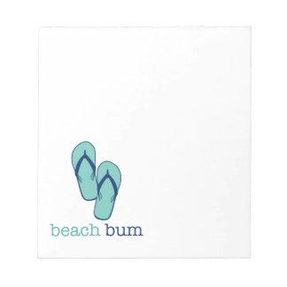 Flip Flops Beach Bum Notepad