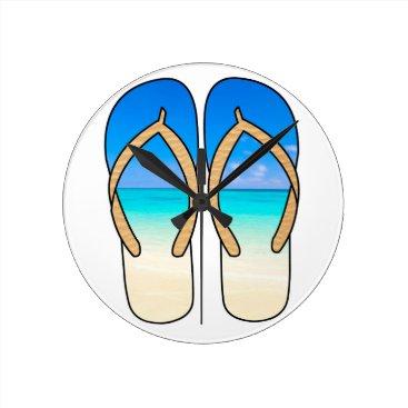 Flip Flops Beach Clock