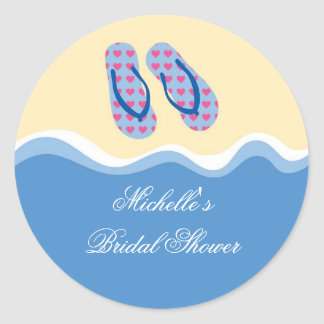Flip Flops Beach Favor Sticker