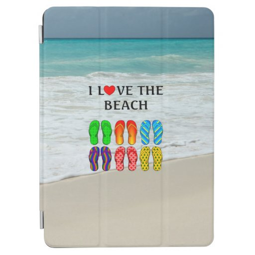 Flip-Flops Beach Love, colorful design iPad Air Cover