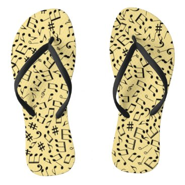 Beach Themed Flip-Flops ~ Beach Party Time ~ Music ~ Any Color~ Flip Flops