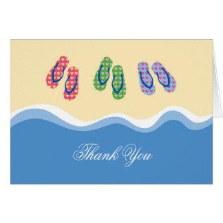 Flip Flops Beach Thank You Card