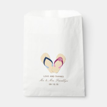 Flip-Flops Beach Wedding Favor Bag