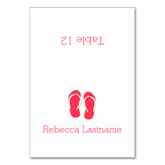 Flip Flops Berry Seating Card Table Card
