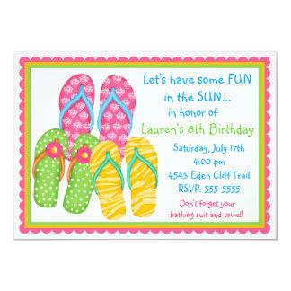 Flip Flops Birthday  Invitations