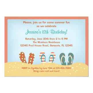 Flip Flops Birthday Party Invitation