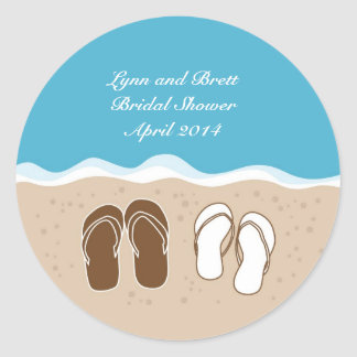 Flip Flops Bridal Shower Favor Sticker