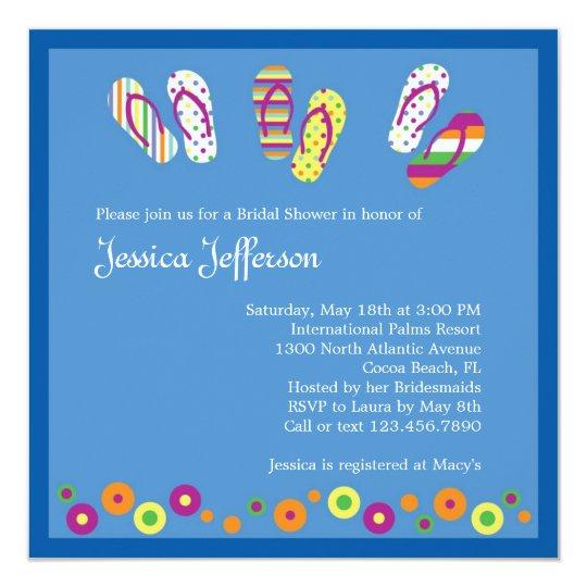 cc16962d2c9054 Flip Flops Bridal Shower Invitation