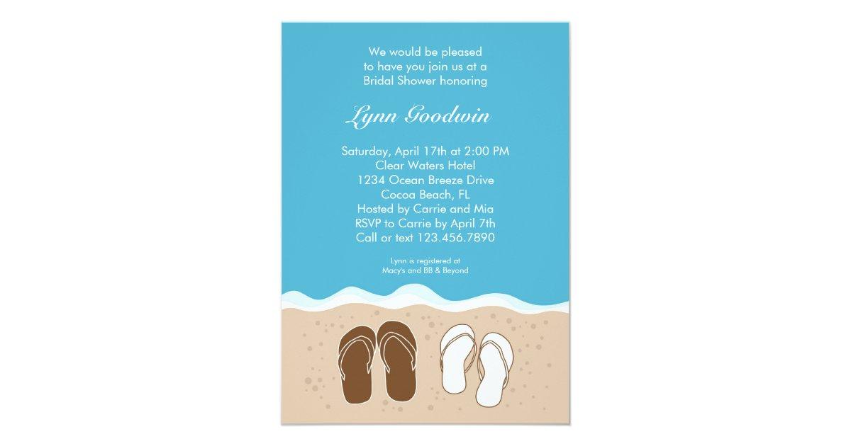 Flip Flops Bridal Shower Invitation Zazzle