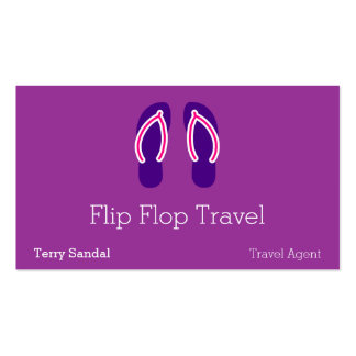 Flip Flops Double-Sided Standard Business Cards (Pack Of 100)