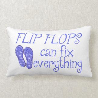 Flip Flops Can Fix Everything Pillow