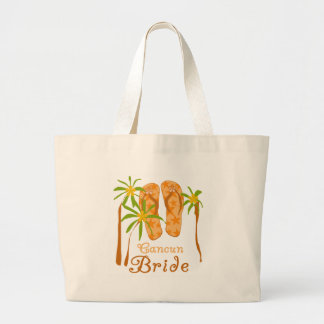 Flip Flops Cancun Bride Tote Bag