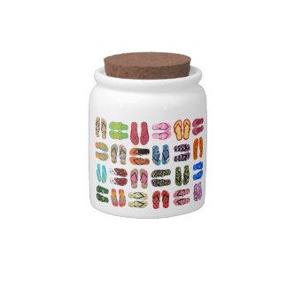 Flip Flops Candy Jars