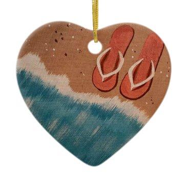 paintingbuzz Flip Flops Ceramic Ornament