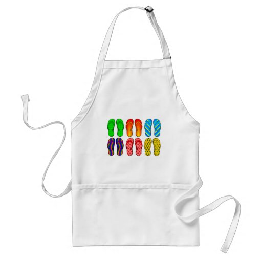 Flip Flops Colorful Fun Beach Theme Summer Gifts Aprons