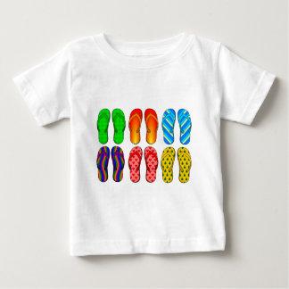 Flip Flops Colorful Fun Beach Theme Summer Gifts Baby T-Shirt