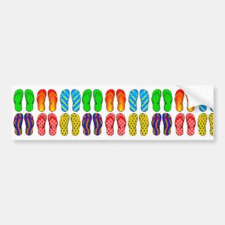 Flip Flops Colorful Fun Beach Theme Summer Gifts Bumper Sticker