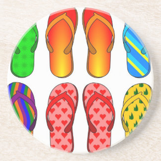 Flip Flops Colorful Fun Beach Theme Summer Gifts Coaster