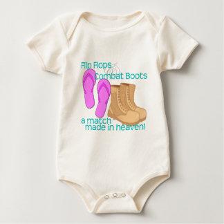 Flip Flops & Combat Boots Baby Bodysuit