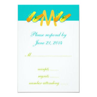 Flip Flops Destination Wedding RSVP Cards Blue