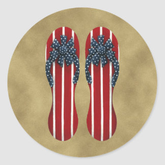 Flip Flops Flag Sticker
