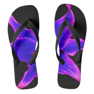 flip-flops for her,lily design purple&black flip flops