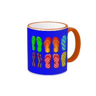 Flip Flops Galore Ringer Coffee Mug