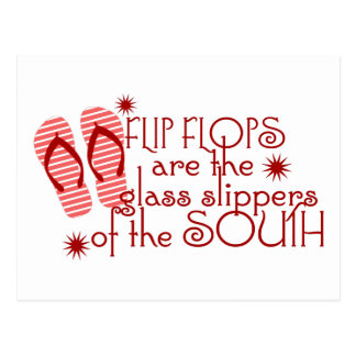 Flip Flops....Glass Slippers of the South Postcard