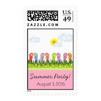 Flip Flops Having Fun in the Sun Invitation / RSVP Postage Stamps