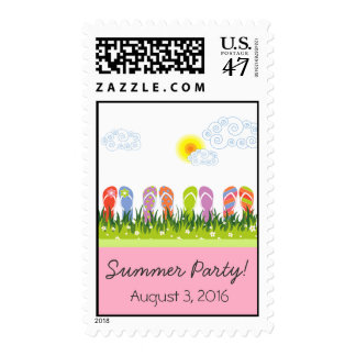 Flip Flops Having Fun in the Sun Invitation / RSVP Stamp