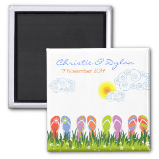 Flip Flops Having Fun in the Sun Save-the-Date Magnet