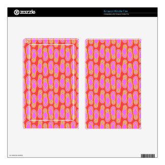 Flip Flops Hawaiian Style Skin For Kindle Fire