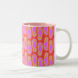 Flip Flops Hawaiian Style Two-Tone Coffee Mug