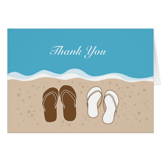 Flip Flops His and Her Thank You Card