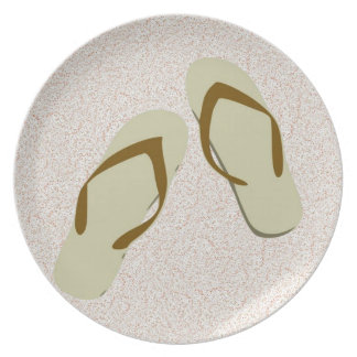 """""""Flip-Flops In The Sand"""" Plate"""