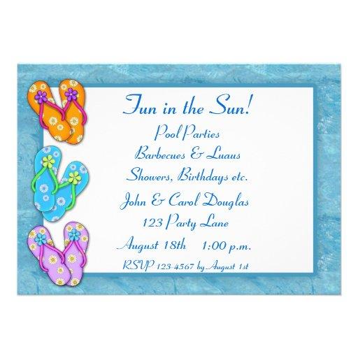 Flip Flops Invitation 5 X 7 Invitation Card Zazzle