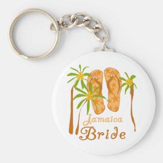 Flip Flops Jamaica Bride Basic Round Button Keychain