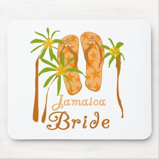 Flip Flops Jamaica Bride Mouse Pad