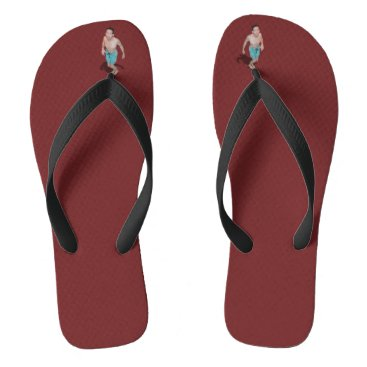 Beach Themed Flip Flops - Little Guy Between Toes Looks Up To U