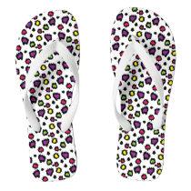 Flip Flops/Multicolored Animal Print Flip Flops