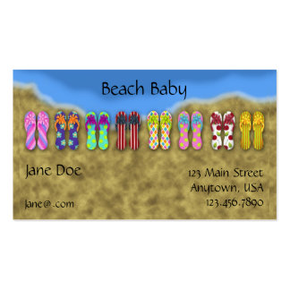 Flip Flops Ocean Profile Card Double-Sided Standard Business Cards (Pack Of 100)