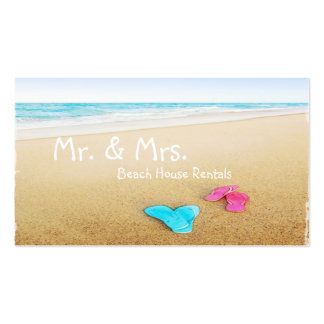 Flip Flops on Beautiful Beach Vacation Rental Double-Sided Standard Business Cards (Pack Of 100)