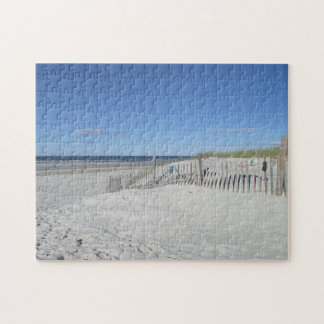 Flip flops on the beach fence puzzle